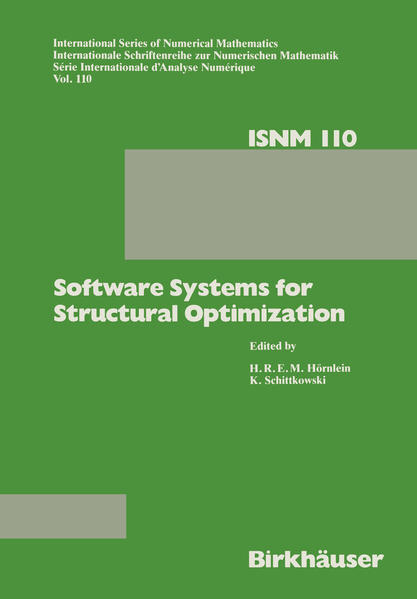 Software Systems for Structural Optimization - Coverbild