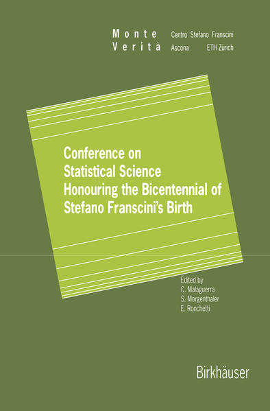Conference on Statistical Science Honouring the Bicentennial of Stefano Franscini's Birth - Coverbild