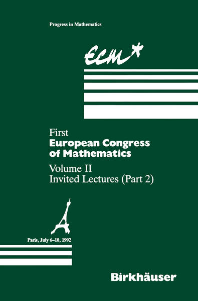 First European Congress of Mathematics Paris, July 6–10, 1992 - Coverbild