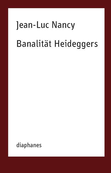 Banalität Heideggers - Coverbild
