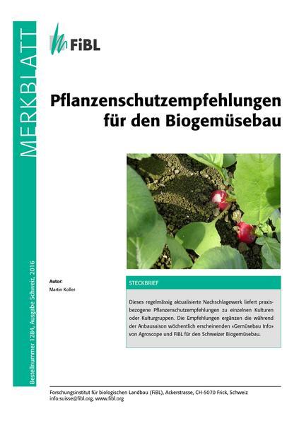 Pflanzenschutzempfehlungen für den Biogemüsebau - Coverbild