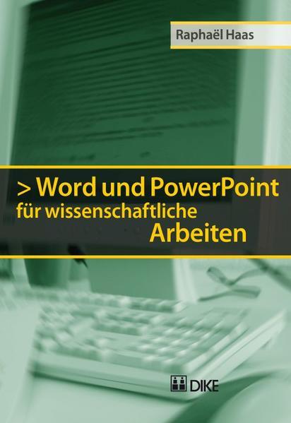 Word und PowerPoint für wissenschaftliche Arbeiten - Coverbild
