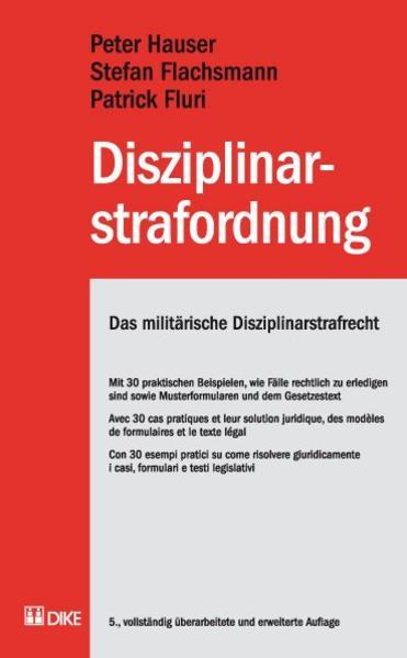 Disziplinarstrafordnung. Das militärische Disziplinarstrafrecht - Coverbild