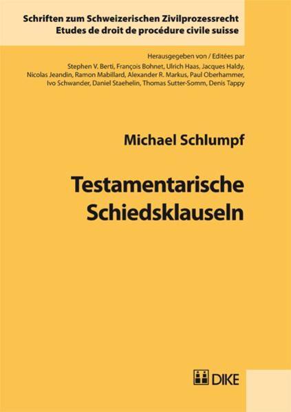Testamentarische Schiedsklauseln - Coverbild