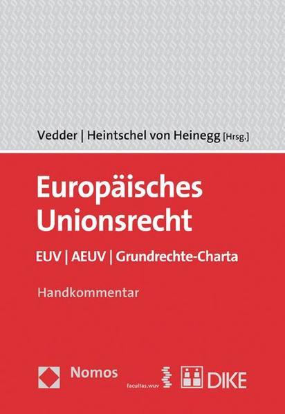 Europäisches Unionsrecht EUV / AEUV / Grundrechte-Charta - Coverbild