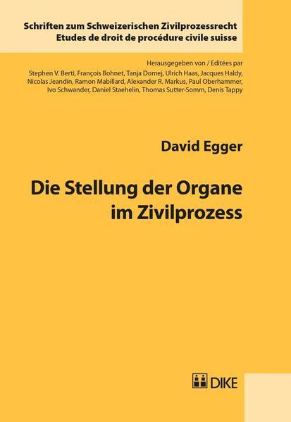 Die Stellung der Organe im Zivilprozess - Coverbild