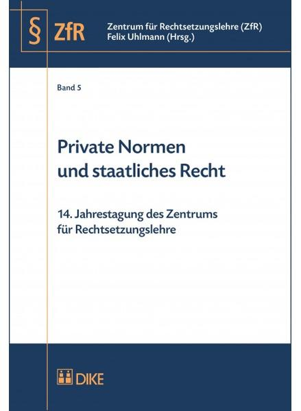 Private Normen und staatliches Recht - Coverbild