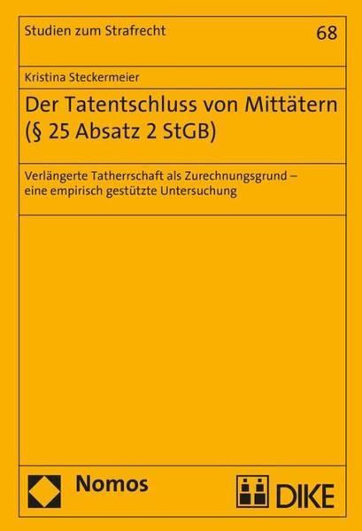 Der Tatentschluss von Mittätern (§ 25 Absatz 2 StGB) - Coverbild