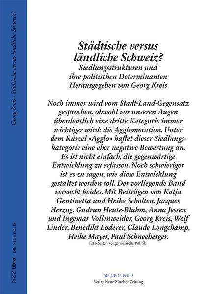 Städtische versus ländliche Schweiz? - Coverbild