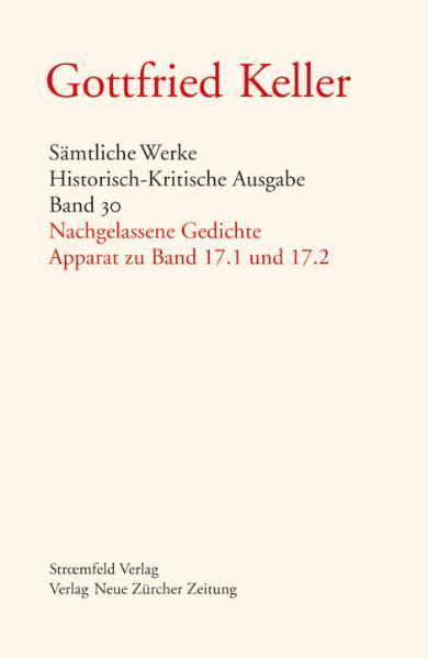 Gottfried Keller - Band 30 - Nachgelassene Gedichte - Coverbild