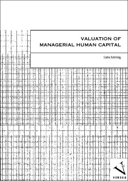 Valuation of Managerial Human Capital - Coverbild