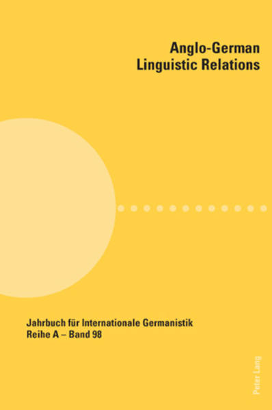Anglo-German Linguistic Relations - Coverbild