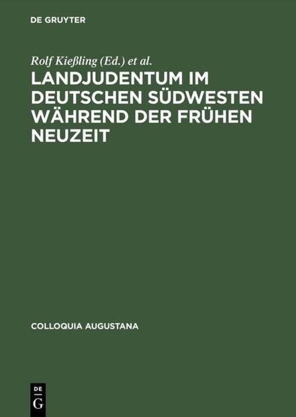 Landjudentum im deutschen Südwesten während der Frühen Neuzeit - Coverbild