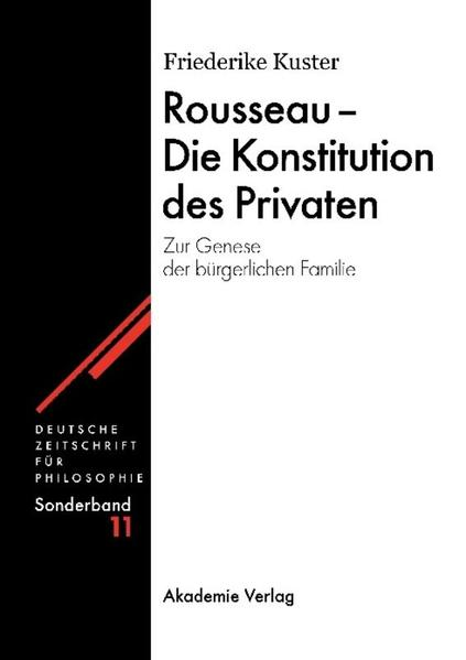 Rousseau - Die Konstitution des Privaten - Coverbild