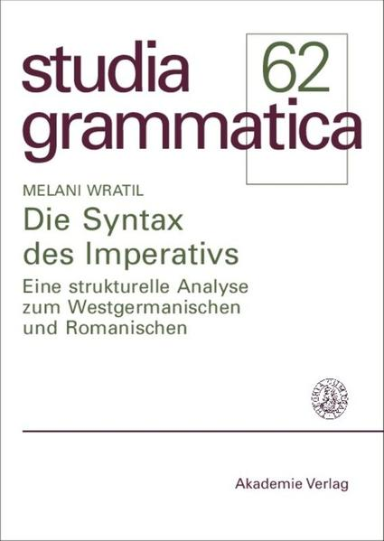 Die Syntax des Imperativs - Coverbild