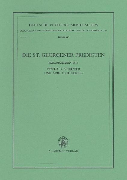 Die St. Georgener Predigten - Coverbild