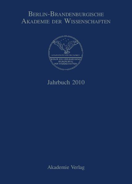 Berlin-Brandenburgische Akademie der Wissenschaften. Jahrbuch / Jahrbuch 2010 - Coverbild