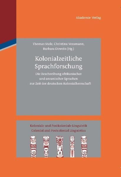 Kolonialzeitliche Sprachforschung - Coverbild