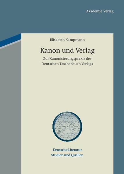 Kanon und Verlag - Coverbild