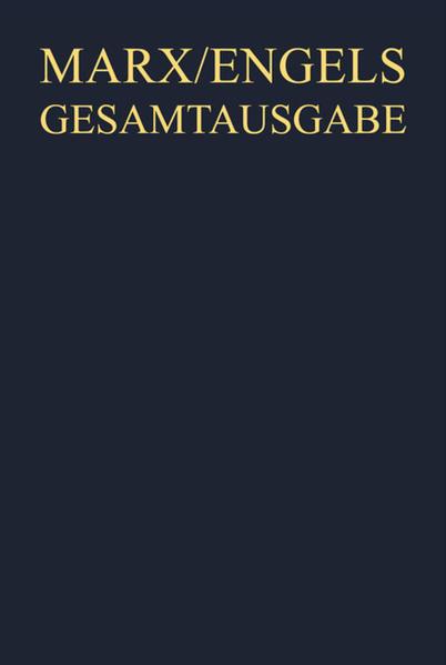 Karl Marx; Friedrich Engels: Gesamtausgabe (MEGA). Briefwechsel / Oktober 1889 bis November 1890 - Coverbild