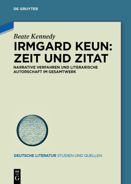 Irmgard Keun – Zeit und Zitat - Coverbild