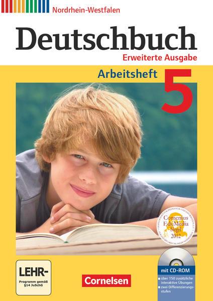 Deutschbuch - Erweiterte Ausgabe - Nordrhein-Westfalen / 5. Schuljahr - Arbeitsheft mit Lösungen und Übungs-CD-ROM - Coverbild