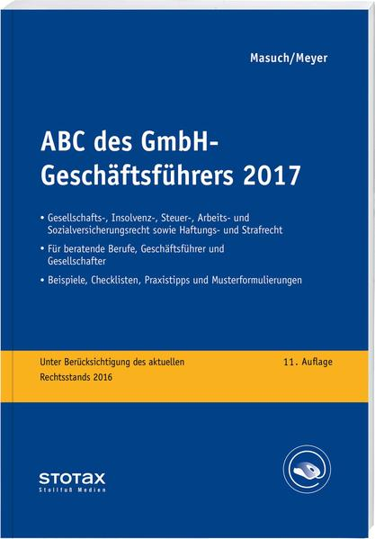 ABC des GmbH-Geschäftsführers 2017 - Coverbild