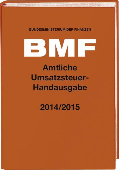 Amtliche Umsatzsteuer-Handausgabe 2014/2015 - Coverbild