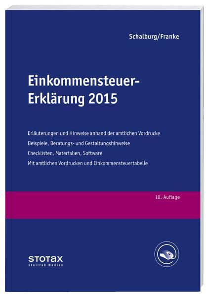 Einkommensteuer-Erklärung 2015 - Coverbild