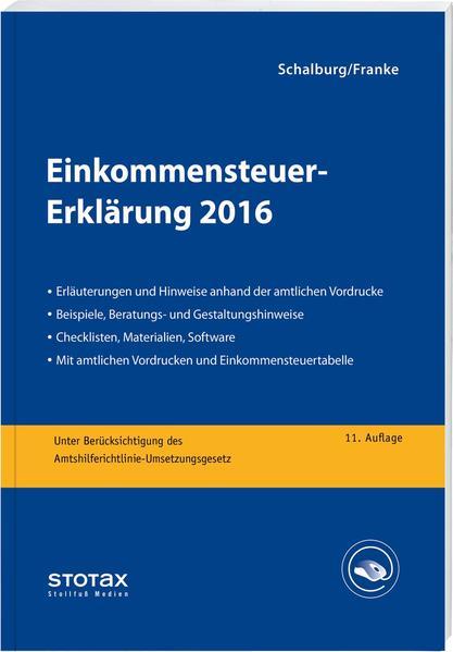 Einkommensteuer-Erklärung 2016 - Coverbild