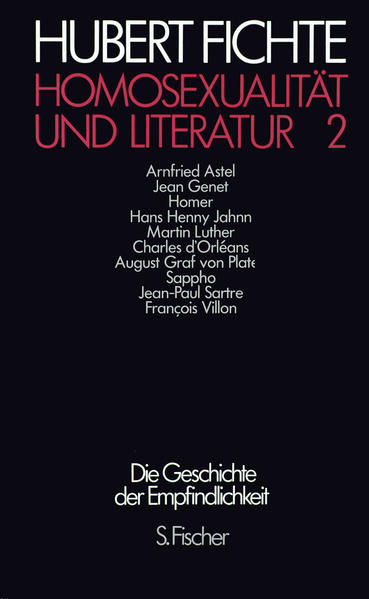 Homosexualität und Literatur 2 - Coverbild