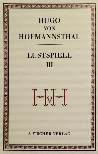 Lustspiele III - Coverbild
