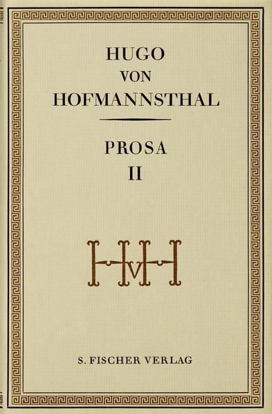 Prosa II - Coverbild