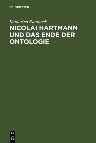 Nicolai Hartmann und das Ende der Ontologie - Coverbild