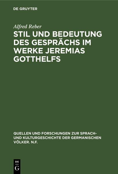 REBER:STIL U BEDEUTUNG D GESPRAECHS    QFNF   20 - Coverbild
