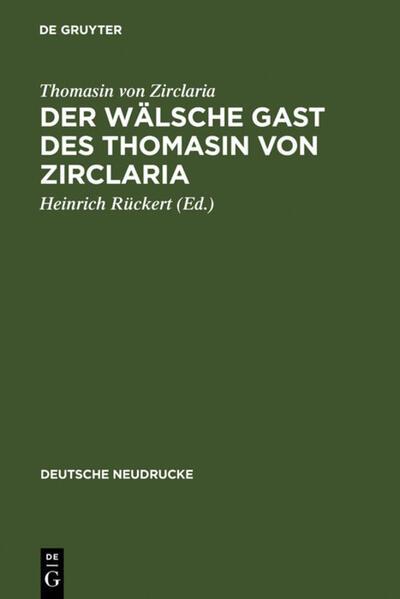 Der wälsche Gast des Thomasin von Zirclaria - Coverbild
