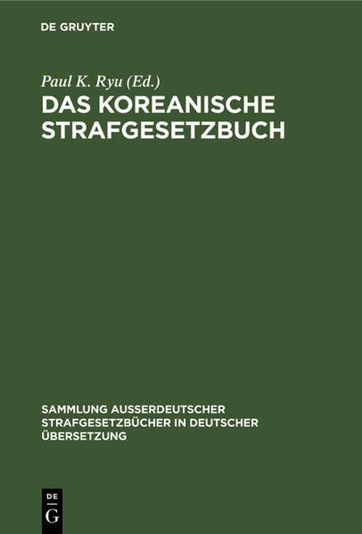 Das Koreanische Strafgesetzbuch - Coverbild