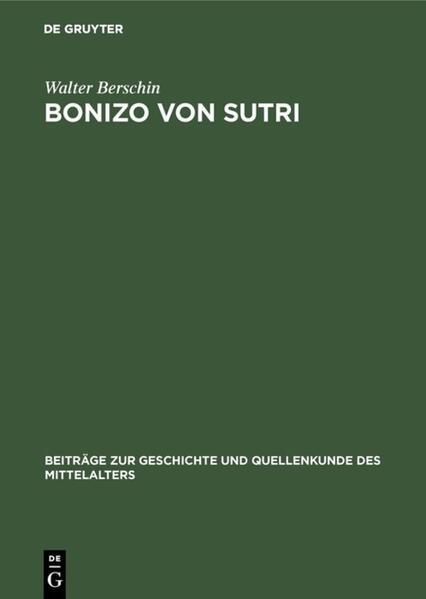 Bonizo von Sutri - Coverbild