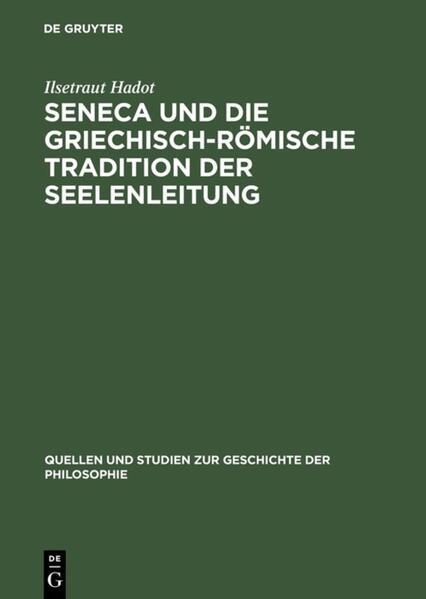 Seneca und die griechisch-römische Tradition der Seelenleitung - Coverbild