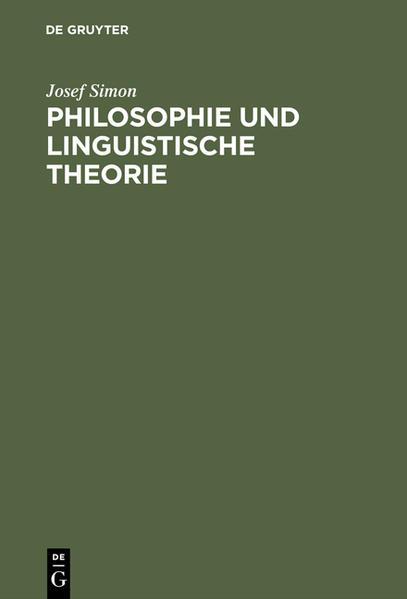 Philosophie und linguistische Theorie - Coverbild