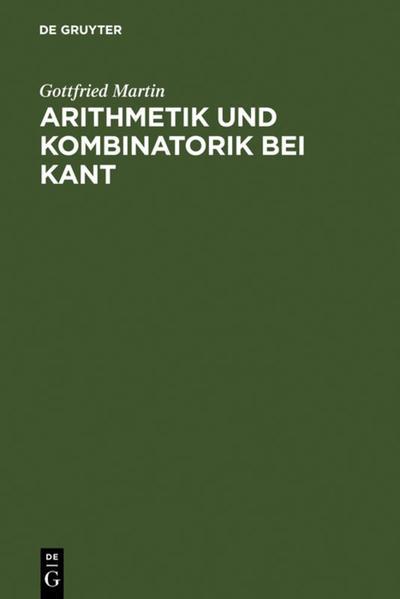 Arithmetik und Kombinatorik bei Kant - Coverbild