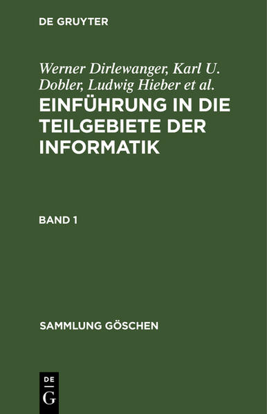 Einführung in die Teilgebiete der Informatik / Einführung in die Teilgebiete der Informatik. Band 1 - Coverbild