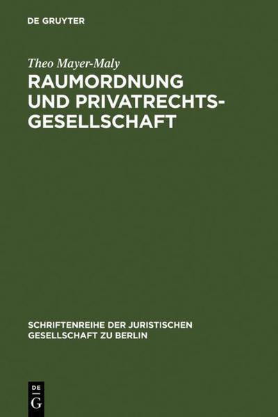 Raumordnung und Privatrechtsgesellschaft - Coverbild