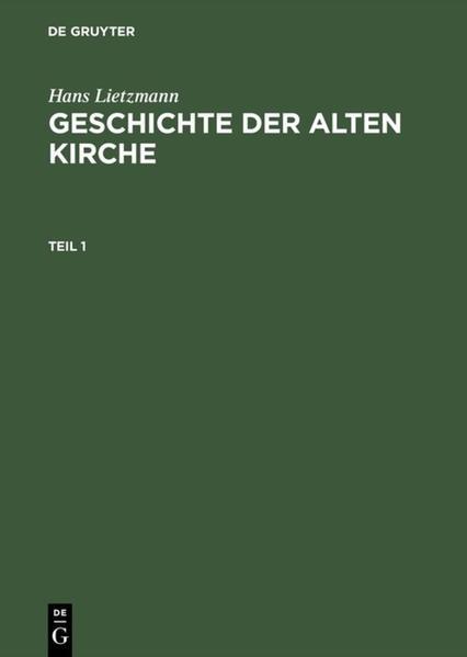 Geschichte der Alten Kirche - Coverbild
