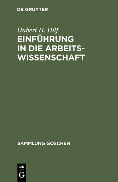 Einführung in die Arbeitswissenschaft - Coverbild