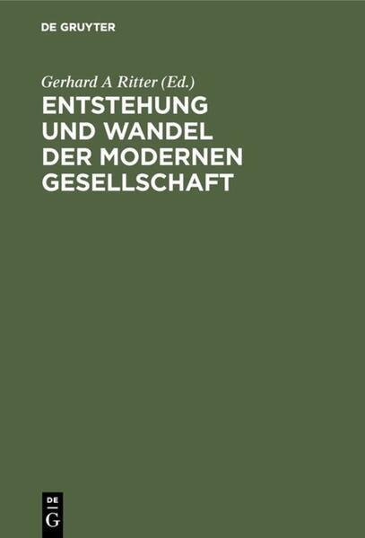 Entstehung und Wandel der modernen Gesellschaft - Coverbild