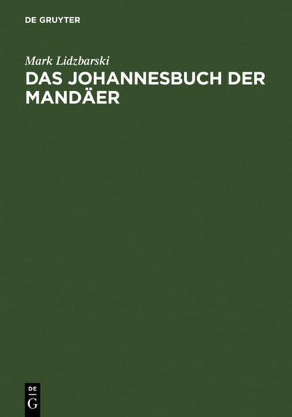 Das Johannesbuch der Mandäer - Coverbild
