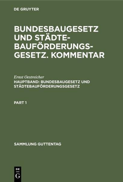 Bundesbaugesetz und Städtebauförderungsgesetz - Coverbild