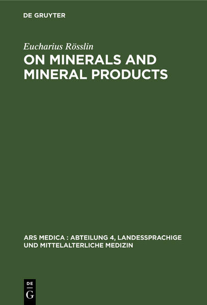 On Minerals and Mineral Products - Coverbild