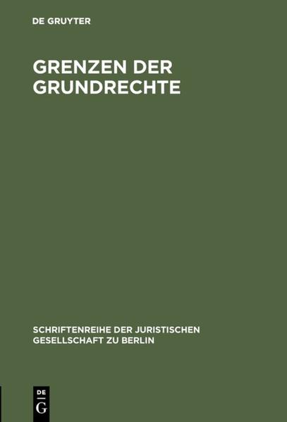 Grenzen der Grundrechte - Coverbild